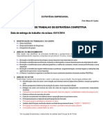 Roteiro Trabalho Final - Administração Estratégica 2014