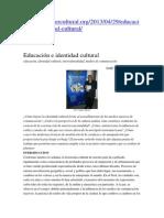 Educacion e Identidad
