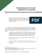 Perspect Ciênc Inf -1(1)1996-Problematizacao Do Conceito &Quot;Qualidade&Quot; Da Informacao