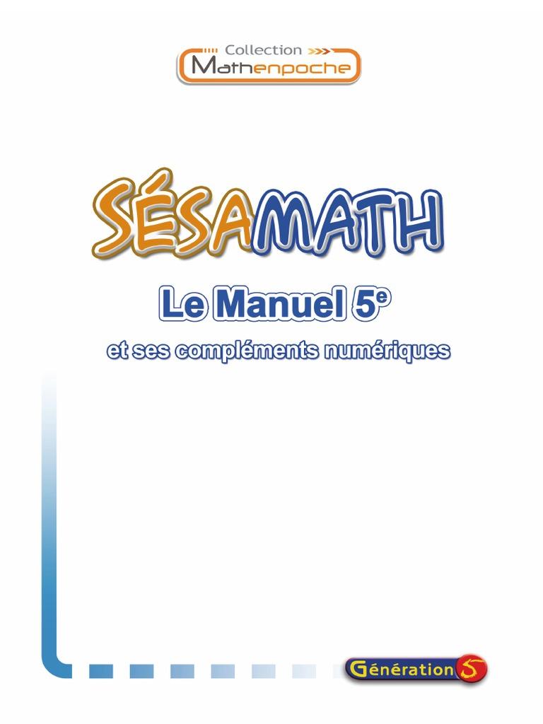 Sesamath 5eme Fahrenheit Fraction Mathematiques