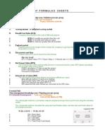 PMP Formulas