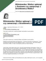Wolisz spłonąć z Sasinem czy zamarznąć z Gronkiewicz-Waltz?