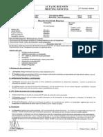Acta de la reunión del Comité de Empresa con la Dirección de Serra Soldadura, S.A.U. 06/11/2014