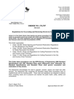 ccsf_dpw_bureau of street-use & mapping_regulations for excavating and restoring streets in san francisco_dpw_order_176-707_