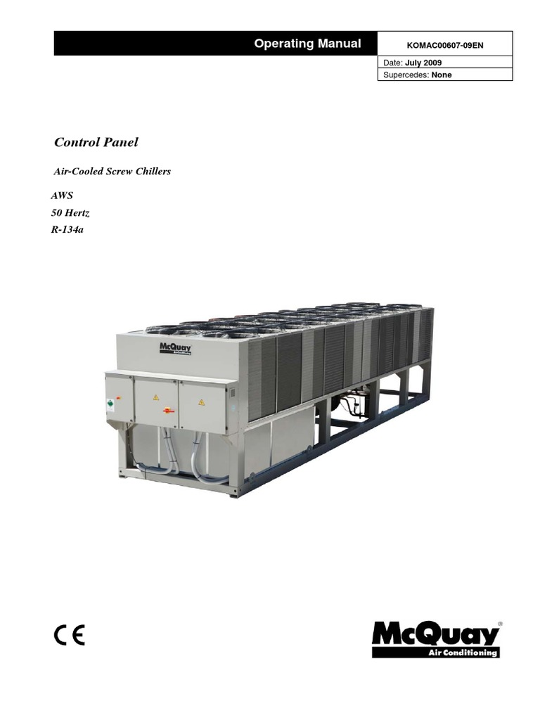 McQuay AWS Operating Manual Eng | Electrical Engineering