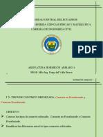 CONFERENCIA 1.3 Tipos de Concreto Reforzado Concreto No Preesforzado y