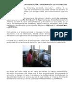 Eleboracion de Documentos