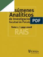 Resumenes Analiticos de Investigaciones (LIBRO)