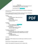 wsd speech outline