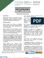 Desoxigel Alugen 2009 -Hoja técnica de producto con instrucciones