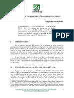 AREVALO RIVAS, Pedro. El Proceso de Faltas en El CPP