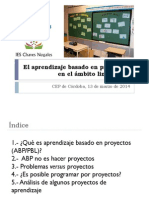 Aprendizaje Basado en Proyectos CEP de Córdoba