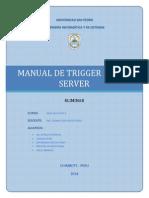 MANUAL DE TRIGGER - SQL SERVER 2012