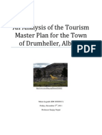 An Analysis of the Tourism Master Plan for the Town of Drumheller, Alberta