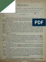 Defensa de Artesanos Al Presidente Mosquera 1867