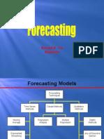 Quantitative Analysis Forecasting