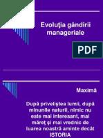 Evoluţiai managem
