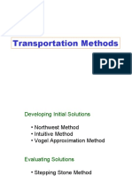 Quantitative Analysis -Transport Method 1
