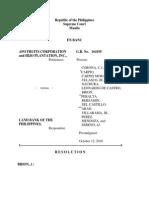 APO Fruits Corp vs LBP