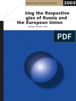 Rethinking the Respective Strategies of Russia and the European Union