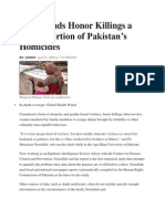 Study Finds Honor Killings a Major Portion of Pakistan