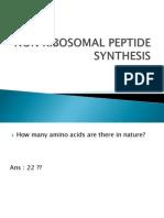 non ribosomal peptide synthesis
