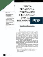 (Psico)Pedagogia, Psicanálise e Educação - Uma Aula Introdutória