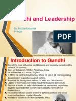 gandhi and leadership