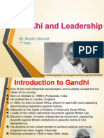 gandhi and leadership