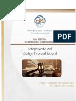 Anteproyecto Del Codigo Procesal Laboral Hondureño