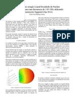Informe de Diseño de un Arreglo Lineal de Antenas Tipo Parche