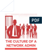 the culture of a network admin