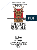 Rudolph Rumble Information and Registration Packet