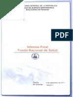 Informe Final 136-11 Fondo Nacional de Salud Personal y Remuneraciones Septiembre 2011