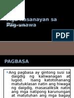 Filipino - Mga Kasanayan Sa Pag-Unawa