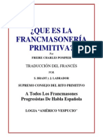 Que Es La Masoneria Primitiva Freire Charles Pompier