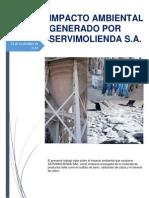 IMPACTO AMBIENTAL GENERADO POR SERVIMOLIENDA