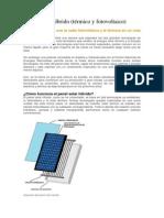Panel Solar Híbrido (Térmico y Fotovoltaico)