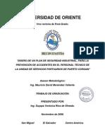 Diseño de Un Plan de Seguridad Industrial Para Prevencion de Accidentes en Puerto (Intro)