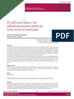 El Software Libre y Las Administraciones Públicas. Una Visión Actualizada