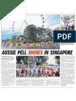 Aussie Pell shines in Singapore, 23 Feb 2009, Straits Times
