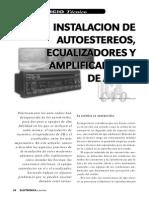 Instalación de Autoestéreos, Ecualizadores y Amplificadores de Audio