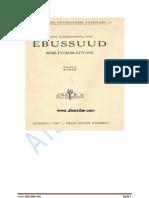 İstanbul Kütüphanelerine Göre Ebussuud Bibliyografyası