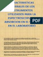 Caracteristicas Generales de Los Instrumentos Utilizados Para La Espectroscopia de Absorcion en El Visible en El Laboratorio