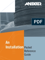 12H0005X00 Anixter Installation Pocket Reference Guide BOOK WC en US