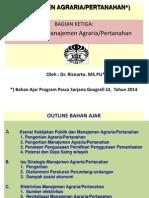 Manajemen Agraria