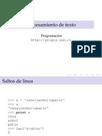 Python Procesamiento de Texto