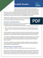 Paraphilic Disorders Fact Sheet