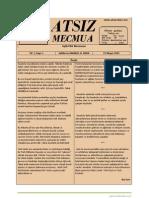 Atsız Mecmua - Sayı 1