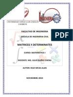 Monografia Matrices y Determinantes